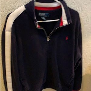 RL Polo vintage thermal lines track suit top HEAVY